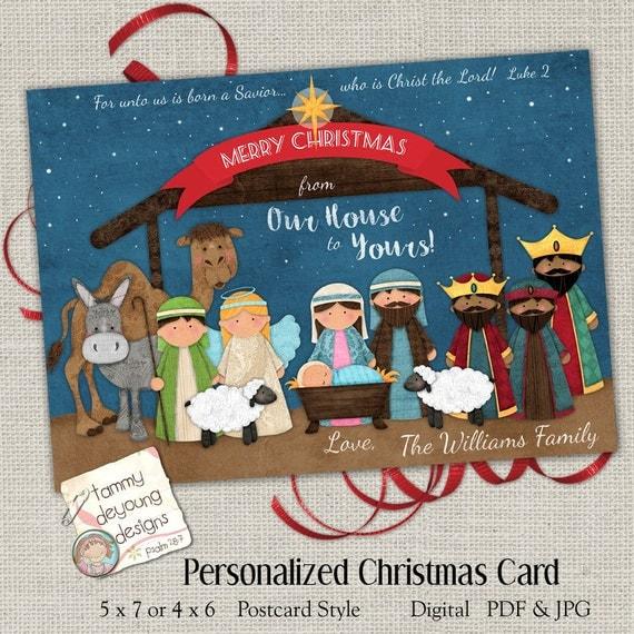 Christmas Nativity Card Printable Religious Christmas Card