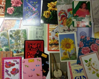a bundle of 130 vintage mix playing cards for art projects | playing cards for collage art | vintage cards for ATCs