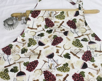 Plus Size Wine and Grapes Apron