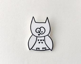 Owl Shrink Plastic Pin