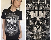 The Devil Wears Prada slashed band tee