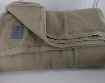 "Merino Cashmere Wool Blanket LITHUANIA Taupe 94"" X 84"""