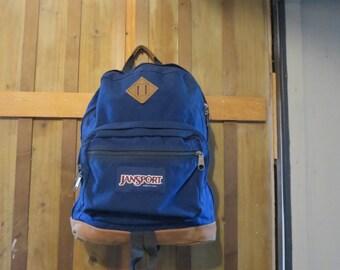 Vintage Jansport  Leather Bottom Backpack USA made Jansport EXCELLENT