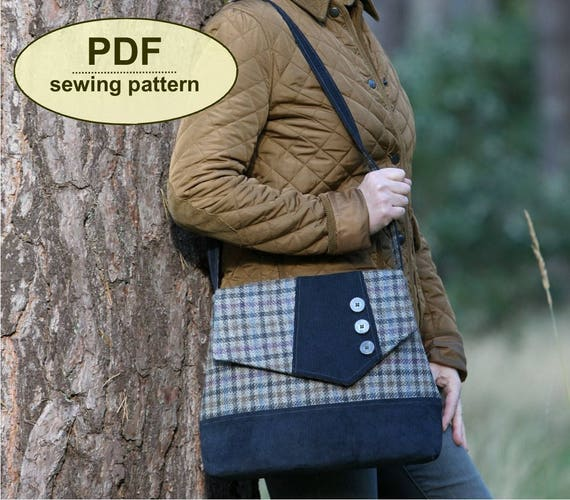 New: Sewing pattern to make the Attleborough Messenger Bag - PDF pattern INSTANT DOWNLOAD, two sizes included