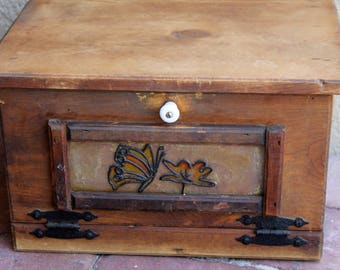 Vintage Wooden Bread Box