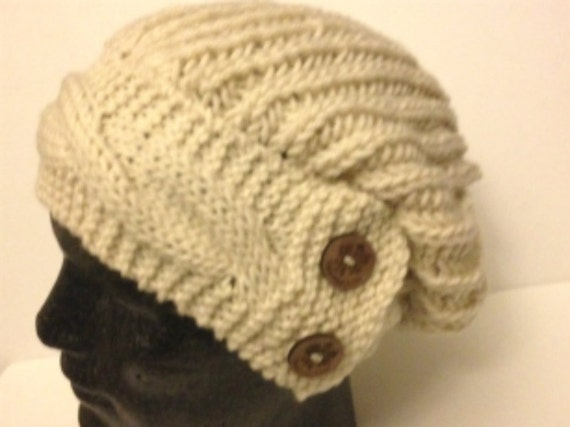 Slouchy Oversized Hat Knitting Pattern With Cabled ...