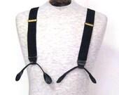 Suspenders Steel Black Y Back Suspenders Button Braces Leather End Braces