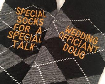 Officiant Socks - Wedding Officiant Gift - Wedding Socks - Wedding Party Gift - Minister gift - Reverend Socks - Wedding Gift