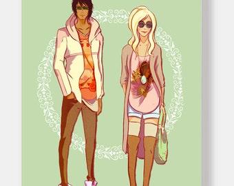 Summer Fruits fashion A4 gloss print