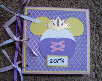 Disney Autograph Book - Rapunzel - Chipboard - New Option Available - Clear Acrylic Covers