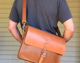 Messenger bag, Leather business bag, Leather satchel, Leather shoulder bag, Laptop bag