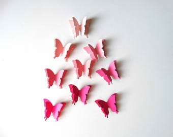 Pink Layered 3D Butterflies, baby shower decor, pretty in pink party, bridal shower decor