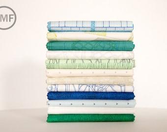 Friedlander Cool Waters Fat Quarter Bundle, 12 Pieces, Carolyn Friedlander, Robert Kaufman Fabrics, 100% Cotton Fabric, AFR