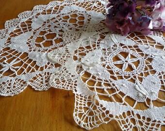 Crocheted Doily Butterfly Doily Doilies Ecru Vintage Centerpiece  F13