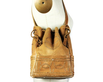 Leather Drawstring Purse