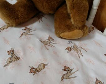 Precious Disney Bambi fawn Baby Crib or Toddler Bed Fitted Cotton Bed Sheet
