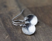 Minimalist Sterling Silver Earrings Handmade, Jewelry Gift for Women, Gift for Her, Earrings Dangle for Women, by Burnish