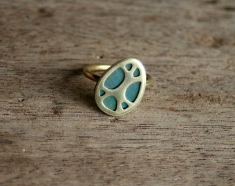 Organic Patterns Ring, One of a Kind, size 7