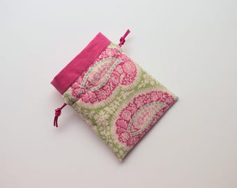 Pink Paisley Pouch, small