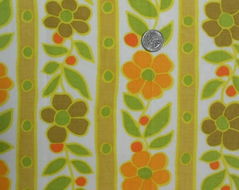 Dots, Stripes and Flowers on Vintage Sheet Piece