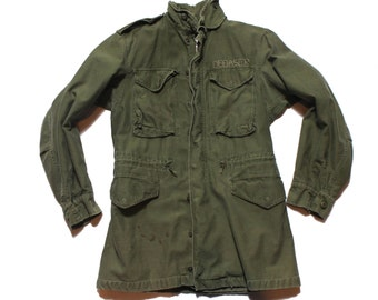 SML Long | 1970's Military Field Jacket Army Green Coat
