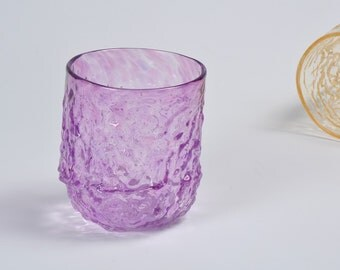 Handblown Glass, Sea Coral Glass in Pale Purple, Transparent Sea Glass, Holiday Entertaining