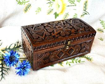 Jewelry box Ring box Wood box Wooden box Jewelry box wood Wooden jewelry box Wedding jewelry box Jewelry organizer Jewelry box dark wood B40