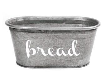 SALE! Small Bread Galvanized Tub, Modern Farmhouse Style
