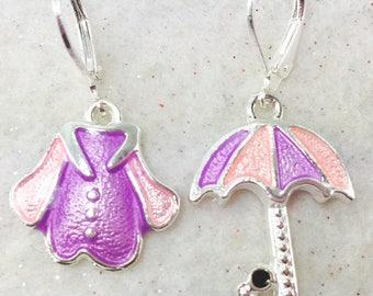 Rainy Day Earrings, Umbrella Earrings, Raining Day Earrings, April Showers,  April Showers, Weather Earrings, Thunder Storm Jewelry