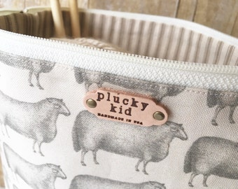 Sheep No. 4 Knitting Project Bag