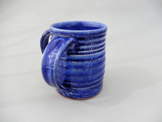 Pottery Washing Cup Blue Ceramic Traditional Washing Cup