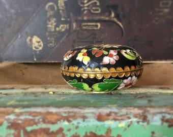 Vintage Asian Cloisonné Round Box