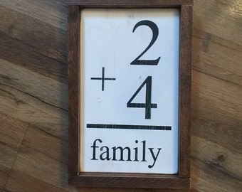 Number family sign with frame. Gallery wall. Farmhouse. Fixer Upper