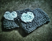 Custom order, black and yellow hat and boot cuffs!