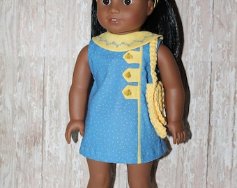 American Girl 1960s Melody ensemble - Bumble Bees, Polka Dots and embroidery