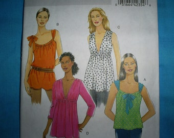 Butterick 5216 Misses Size Xsm - Sml - Med Tunics.