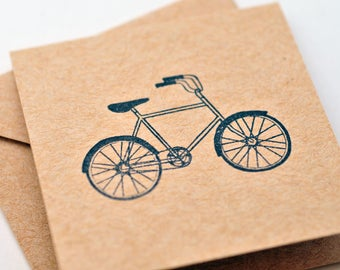 Bicycle Mini Cards // Blank Cards // Enclosure Cards // Gift Tag // Party Favor // Love Note // Advice Card // Scrapbooking