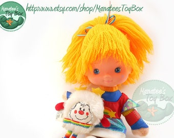 Vintage Rainbow Brite Doll with Twink Sprite: A Classic 1980s Toy by Mattel