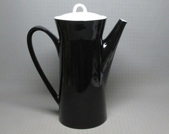 Mikasa coffee pot FA700 , black and white , Ben Seibel  black and white , speckles