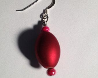 Simply Fun II: Handmade Red Acrylic Beaded Earrings
