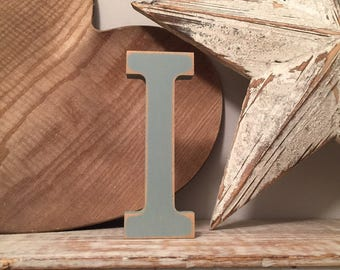 Hand-painted Wooden Letter F - Freestanding - Rockwell Font - Various sizes, finishes and colours