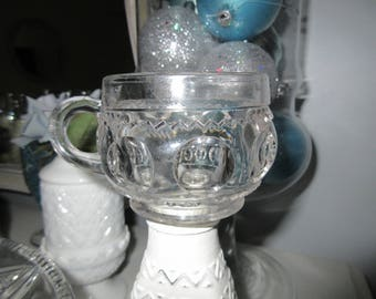 Kings Crown Antique EAPG 1890  XLCR Thumbprint Punch Cup,charming,Shabby Chic,tabletop,Period Style,collectible glassware,antique glass