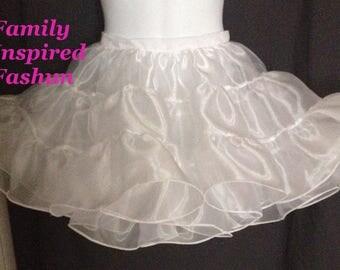 girls petticoat slip, organza petticoat, pettiskirt
