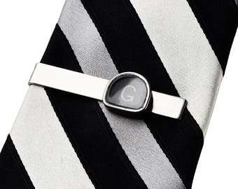 Customizable Vintage Typewriter Key Tie Clip - Initials - Tie Bar - Tie Clasp - Business Gift - Handmade - Gift Box Included