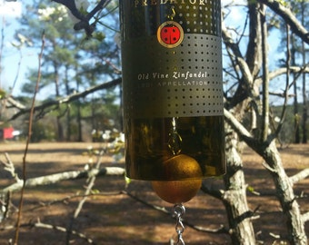 Predator Lady Bug Wine Bottle Wind Chime