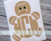 Made for Monogram Gingerbread Boy Christmas Appliqué Design Machine Embroidery INSTANT DOWNLOAD