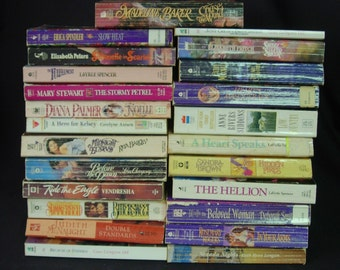 Lot of 24 Romance Novel Paperbacks - Various Authors - Palmer, Hill, Gregory, Brown