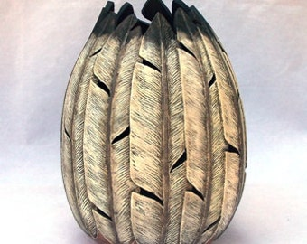 Fine Gourd Art- Feathers