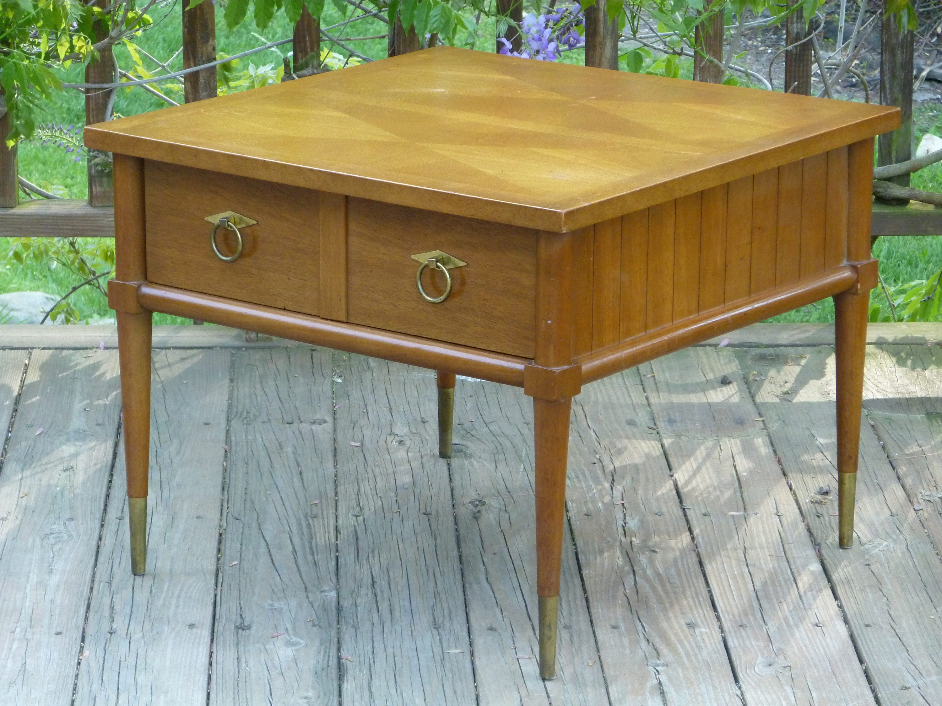 Mid Century Modern Mahogany End Table by American of