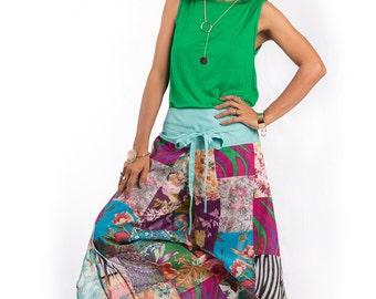 Boho pants  - Wide leg patchwork pants : Boho Patchwork Collection